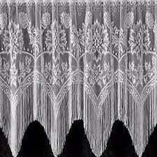 Black Lace Valance Gala Valance Heritage Lace Curtainshop Com