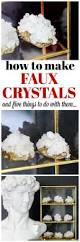 how to make faux crystals