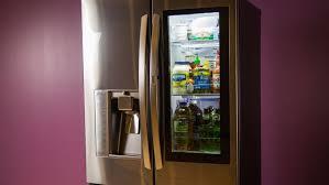 Cabinet Depth Refrigerator Reviews Lg Lfxc24796d Instaview Door In Door Counter Depth Refrigerator