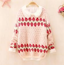 strawberry sweater japanese strawberry sweater fashion kawaii