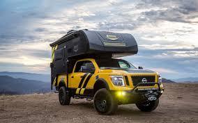nissan pickup custom custom nissan titan xd and camper by hellwig at sema insidehook