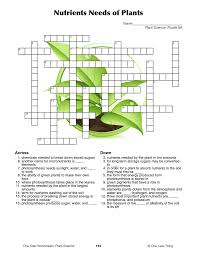 plant science one step worksheets one less thing