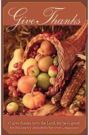 thanksgiving give thanks unto the lor regular size bulletins