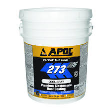 apoc 273 cool gray premium elastomeric roof coating