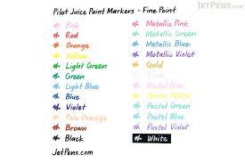pilot juice paint marker fine point 8 color set jetpens com