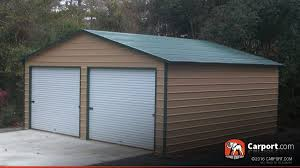 Garage For Cars by Metal Garage Building For Two Cars 24 U0027 X 26 U0027 Shop Carports Online