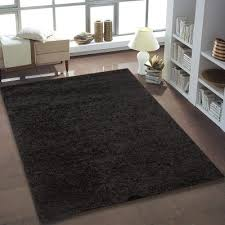 black solid area rug shaggy black area rug black round rug for