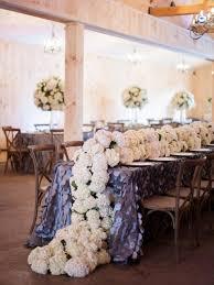 diy wedding reception centerpieces with hydrangeas wedding blue