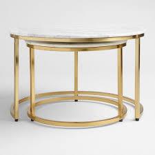 round nesting coffee table marble ayva nesting coffee tables set of 2 world market