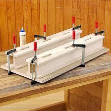 Woodworking Bench Top by Uplifting Benchtop Risers
