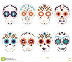 sugar skulls day of the dead stock vector illustration of