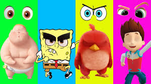 wrong eyes spongebob paw patrol boss baby angry birds finger