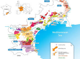 Map Of Northern France by Map Of The Vineyards Of The Languedoc Roussillon Region Of The