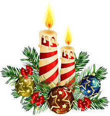 clipart christmas candles