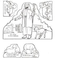coloring book bible stories goede herder psalm 23 bijbel pinterest sunday bible