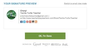 techie turtle teacher tech tip tuesday custom email signature
