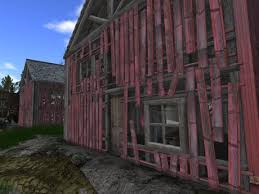 second life marketplace the big barn shop rustic two story u
