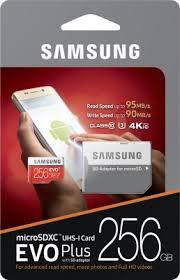 Memory Card Samsung 256gb samsung evo plus 256 gb microsdxc class 10 95 mb s memory card kenyt