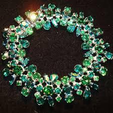 emerald green fashion necklace images Dazzling emerald green and aqua blue sherman bracelet collectors jpg