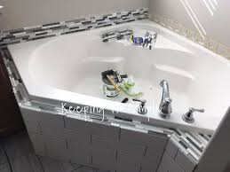 how to tile a bathtub to make it look like a spa hometalk