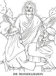 coloring jesus transfiguration coloring coloring