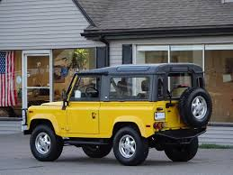 land rover defender 90 yellow 1994 land rover defender 90 convertible copley motorcars