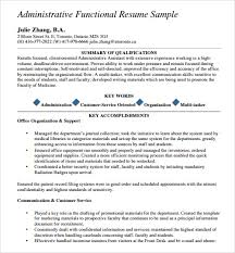 Resume Example For Administrative Assistant by Sample Resume Template 24 Free Samples Examples Format