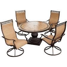 5 piece patio table and chairs monaco 5 piece swivel rocker dining set monaco5pcsw