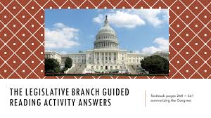the legislative branch guided reading activity answers ppt video