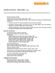 Teacher Resumes Templates Free Teacher Resume Format