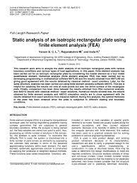 analysis of plate using matlab bending finite element method