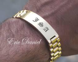 engravable id bracelet mens id bracelet etsy