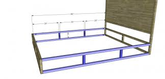 free diy furniture plans to build a copenhagen queen sized bed