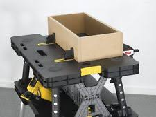 keter folding work table ex 731161042294 folding work bench table compact sawhorse rugged