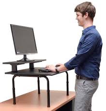 stand up desk converter dual monitor best home furniture decoration