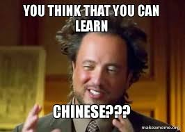 Meme In Chinese - you think that you can learn chinese ancient aliens crazy