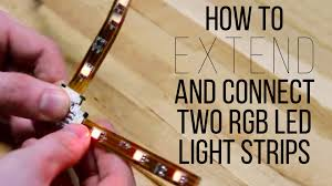 How To Extend And Connect Two Rgb Led Light Strips Superbrightleds