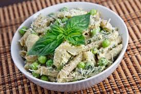 pasta salad pesto creamy pea and artichoke pesto pasta salad recipe on closet cooking