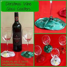 creating my way success christmas wine glass coasters