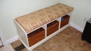 furniture enchating floral bench seat cushion for white bench