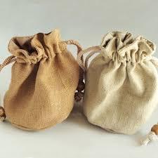 burlap wedding favor bags vintage rusitc burlap thank you wedding favor bag ewfb013