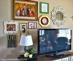 how to decorate around a tv use my end tables paint ten white and