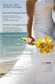 wedding album prices wedding package price list images