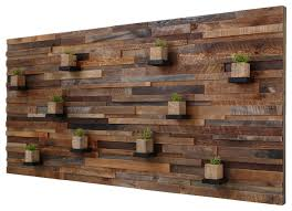 reclaimed barn wood wall with floating shelves 7 x3 4 inside