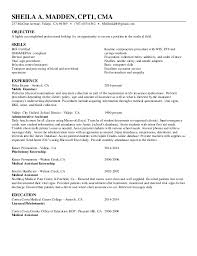 Resume For Medical Assistant Externship 1 5 17 Updated Cpt1 Ma Resume