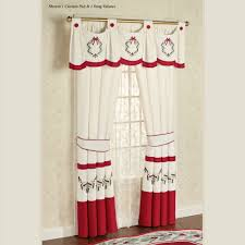 Valance Window Treatments by Christmas Holiday Window Treatments Curtains Valances Touch Of Class