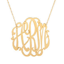 Monogram Necklaces Moon And Lola Cheshire Monogram Necklace In Gold Ships Free