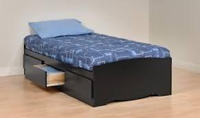 sonoma twin platform bed w storage drawers black new ebay