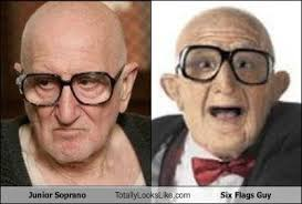 The Sopranos Meme - junior soprano totally looks like six flags guy memebase funny