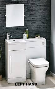 White Gloss Bathroom Furniture Lima 900 L Shaped White Gloss Bathroom Combination Unit With Basin